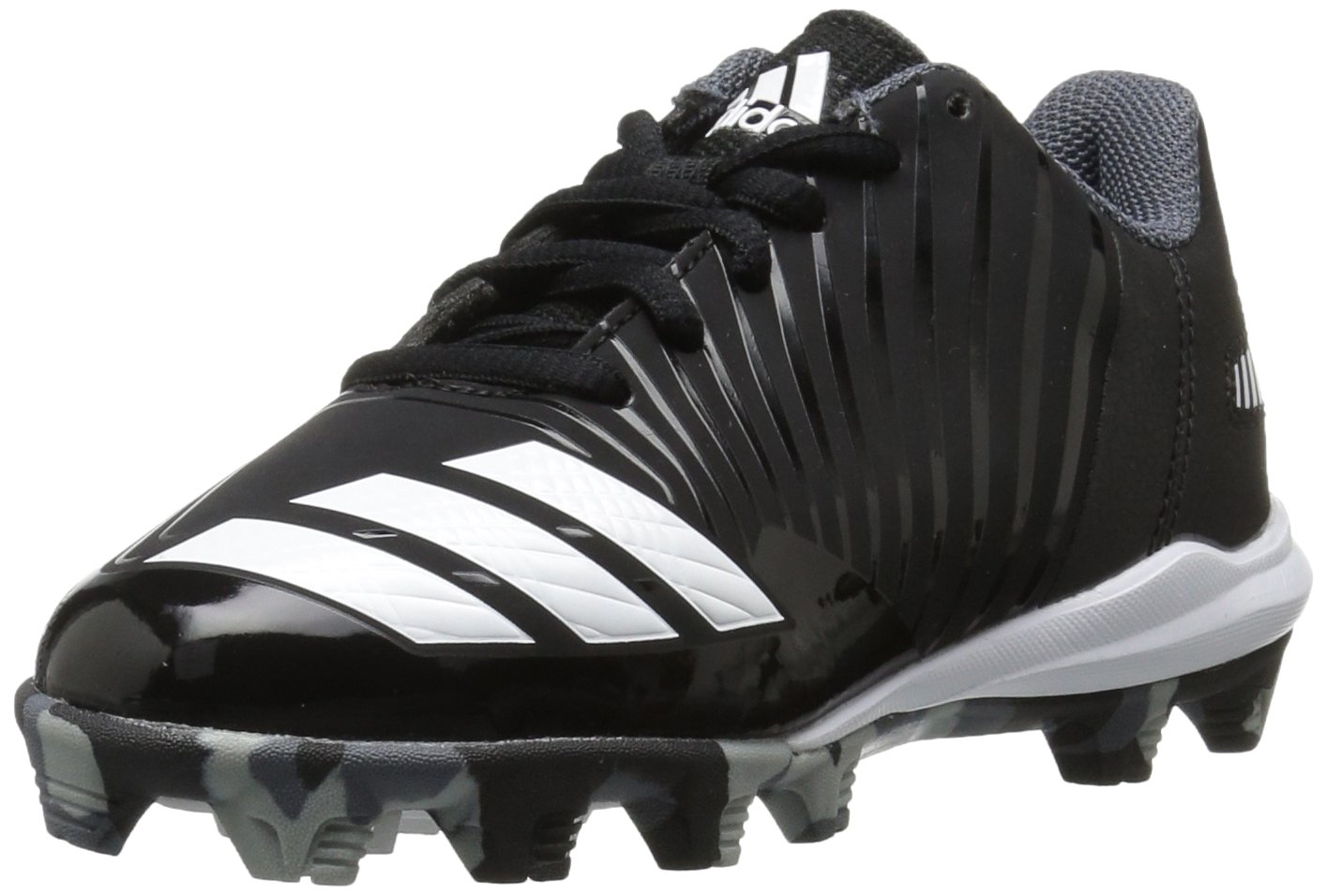 adidas Men's Freak X Carbon Mid Baseball Shoe, Core Black, Ftwr White, Onix, 4 M US Big Kid by adidas