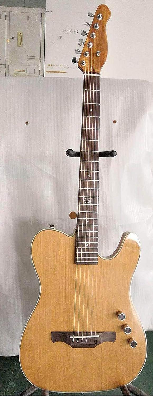 SYXMSM Fina Cutway Cuerpo De La Guitarra Eléctrica Clásica Guitarra Clásica En Silencio (Color : Acoustic, Size : 39 Inches)