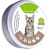 Fully Adjustable Flea and Tick Collar for Cats Waterproof Treatment Fleas Ticks Mosquitoes Insects (8months, 13inches)