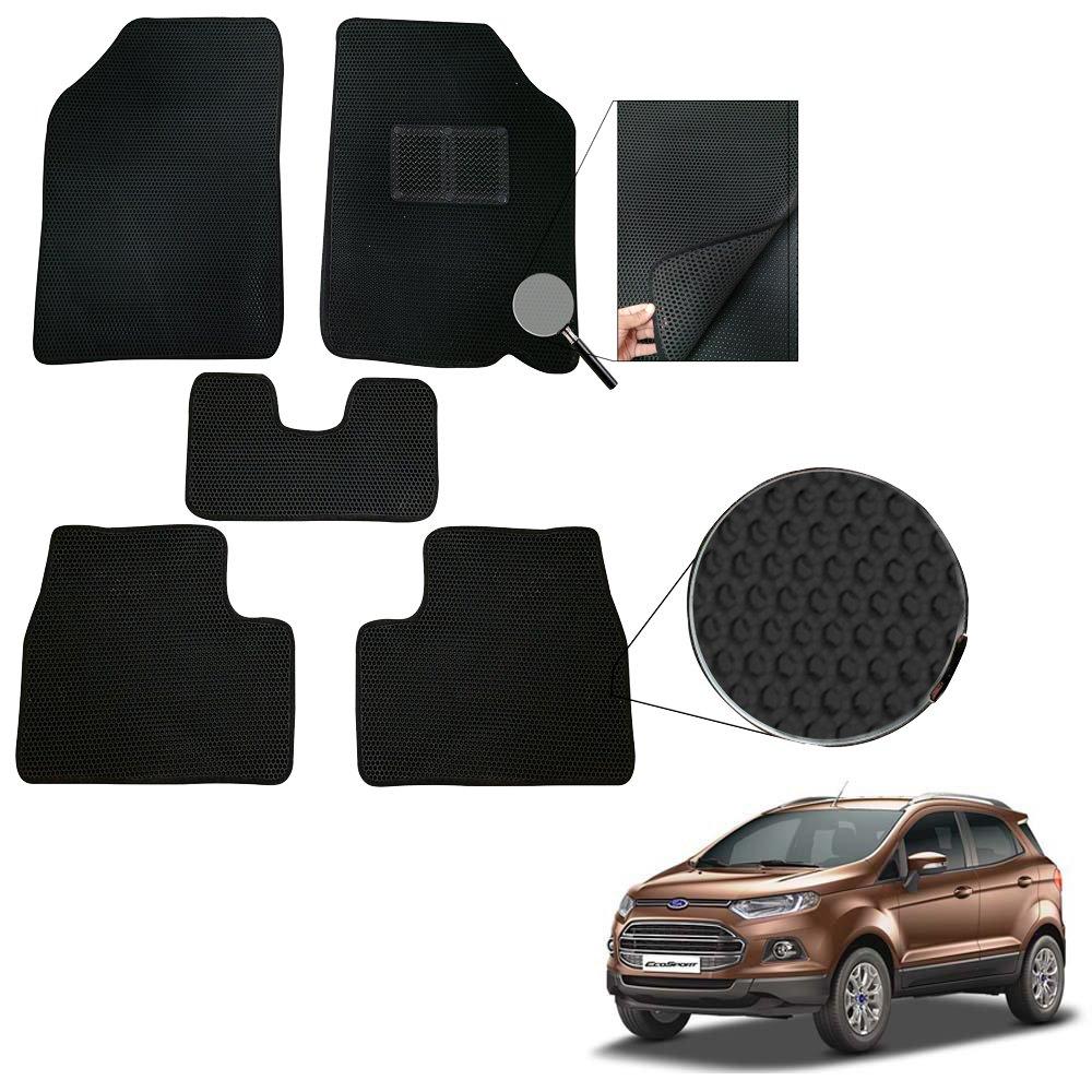 Vheelocityin Eva Double Layer Washable Velcro Fix Car Foot Mat Floor Mat Black For Ford Ecosport Amazon In Car Motorbike