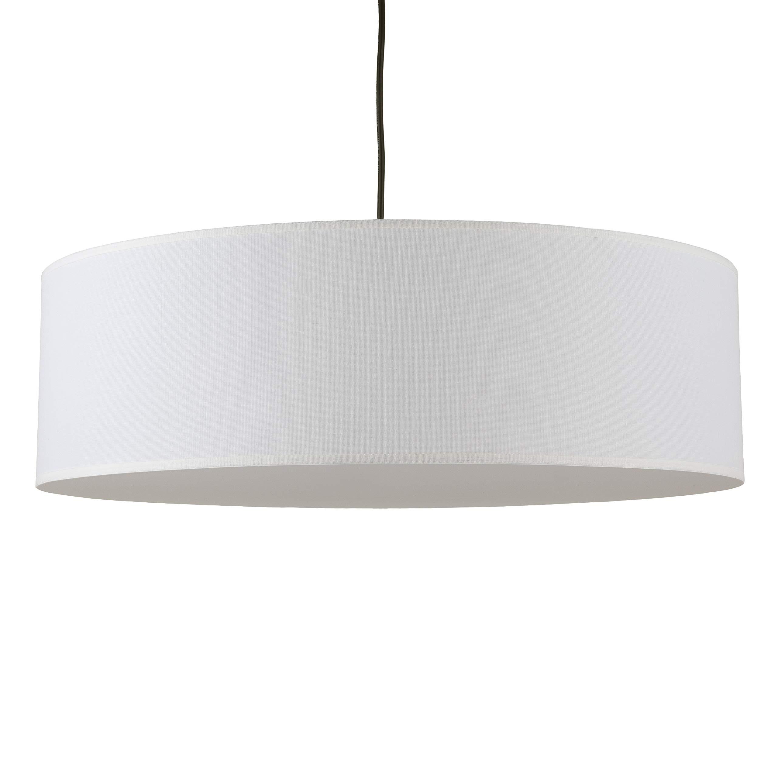 Lights Up! 9230BN-WHT Meridian Jumbo 30 Pendant, Brushed Nickel