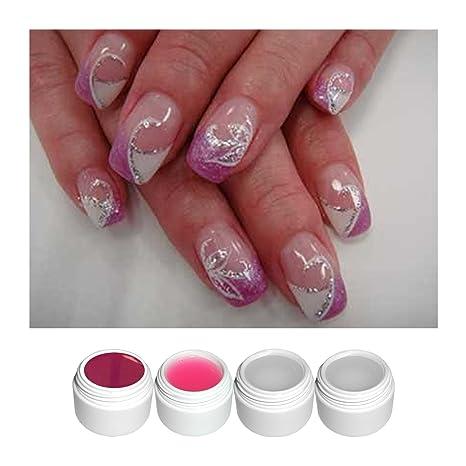 NB24 arte de uñas diseño de #3 con Magenta Gel de colour ...