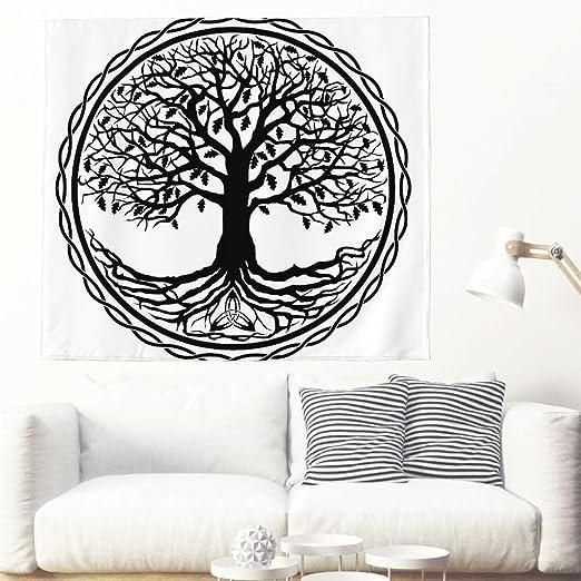 Tapiz psicodélico de un solo color con diseño de árbol de la vida ...
