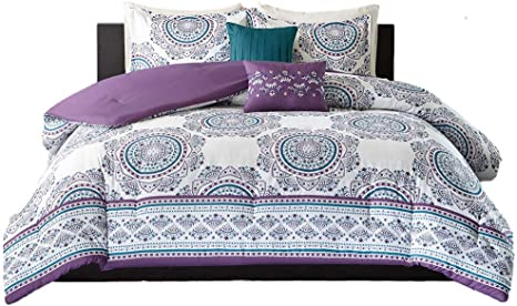 Amazon Com Comforter Sets For Teen Girls Full Queen Twin Bedding Kids Teal Purple Medallion Perfect Home Bedrooms Or Dorm Rooms Bundle Includes Exclusive Sleep Mask From Designer Xl