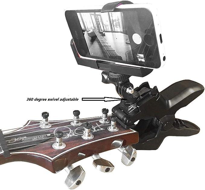Abrazadera para teléfono móvil con Soporte para Smartphones y cámaras de acción GoPro ~ Grabación en casa para Cerrar: Amazon.es: Electrónica