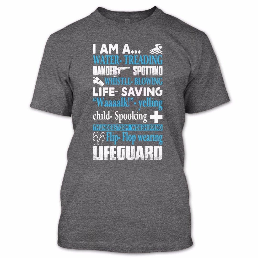 OMGSHIRTS I Am A Lifeguard T Shirt, Nice Lifeguard Shirt, Cool Shirt