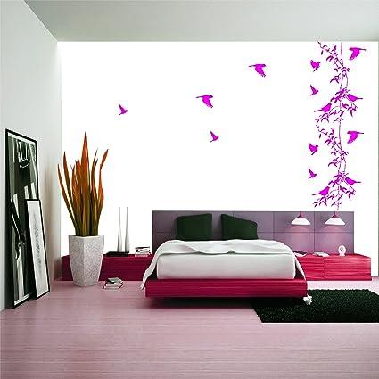 Kayra Decor Vinyl Birds Home Reusable Wall Stencil (Multicolour, 16 X 24 Inches) (Plastic Sheet)