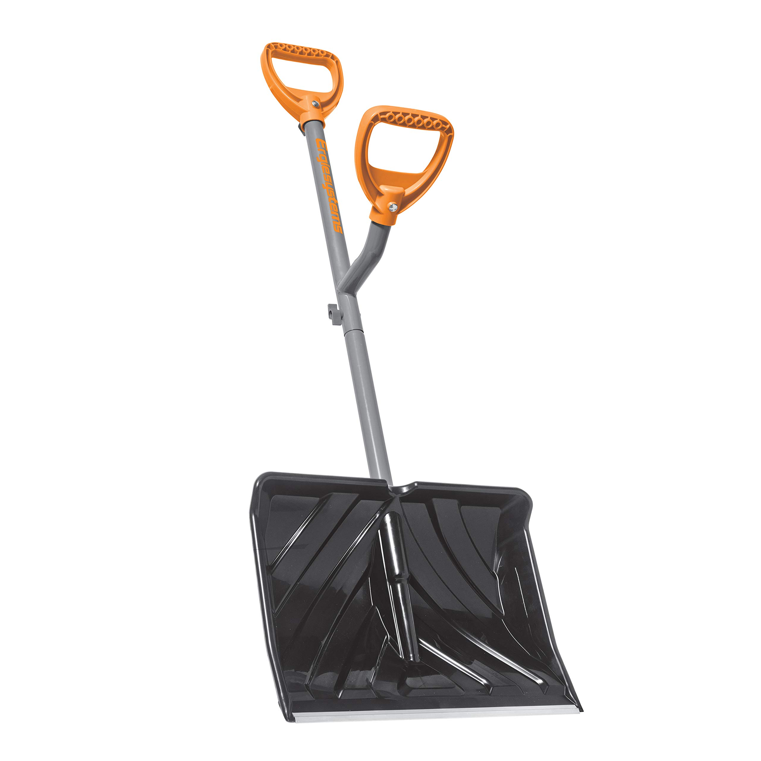 ERGIESHOVEL ERG-SNSH18 18-Inch Impact Resistant Blade Push/Scoop Combination Snow Shovel, Orange by ERGIESHOVEL