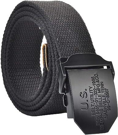 Anaisy Cinturón De Tela Para Hombre Cinturón Daily Mili Lienzo Lienzo R Joven Cinturón Jeans Cinturones Con Caja De Regalo Original 110 140 Cm: Amazon.es: Ropa y accesorios