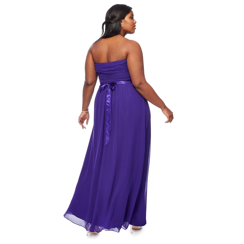 Debut Womens Purple \'Sophia\' Bandeau Plus Size Bridesmaid Dress 20 ...