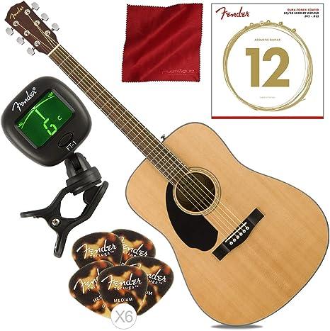 Fender CD-60S LH Dreadnought Guitarra acústica para zurdos ...