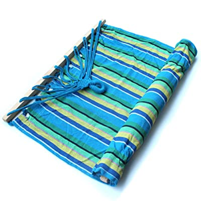 L&J Épais Toile Hamac,Confortable Respirabilité Durable Bande Plein Air Loisir Lit D'oscillation Camping Jardin Terrasse