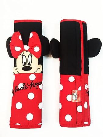"Amazon.com: 2 piezas Minnie Mouse 10"" Asiento de coche ..."