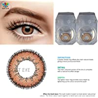 Soft Eye - Brown Color Monthly Contact Lens with case solution