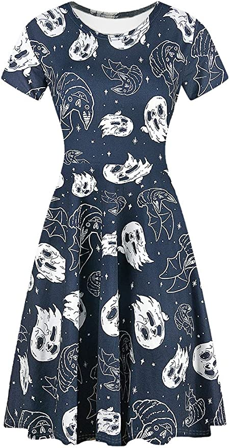 Womens Short Sleeve Halloween Dresses