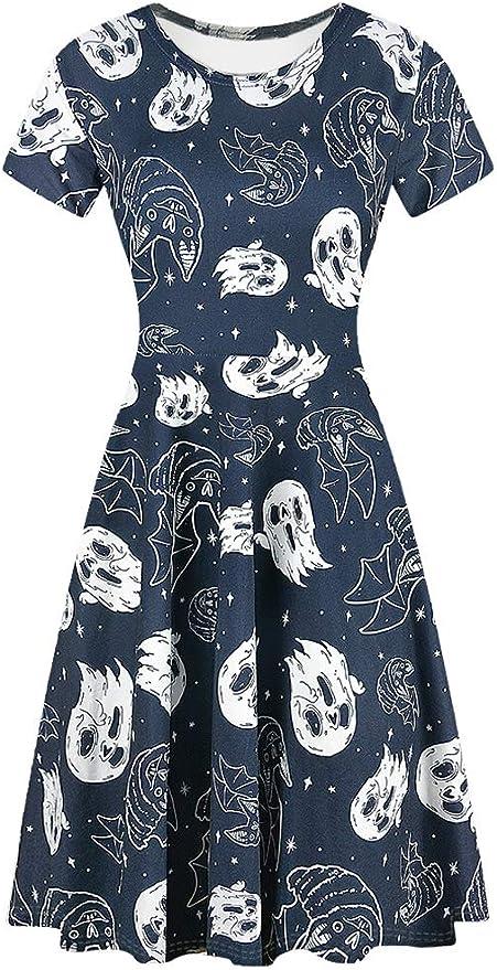 Womens Short Sleeve Halloween Dresses