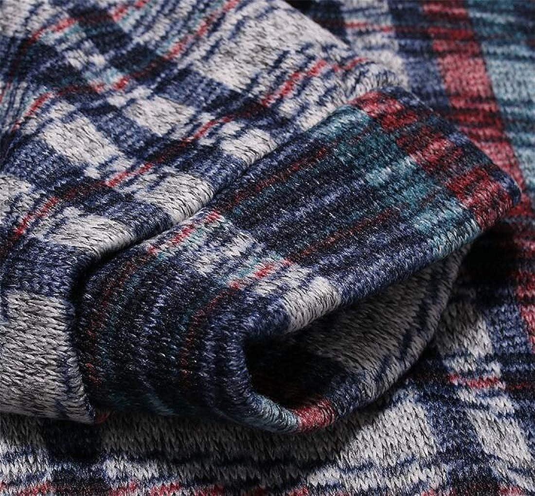 X-Future Mens Casual Slim Fit Long Sleeve Pockets Stripe Hoodie Pullover Sweatshirt
