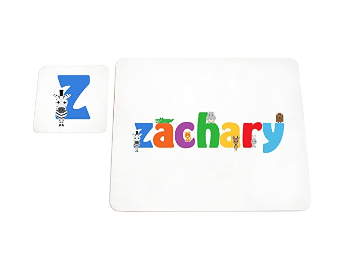 Zachary Feel Good Art High Gloss Placemat and Coaster for Babies//Toddlers