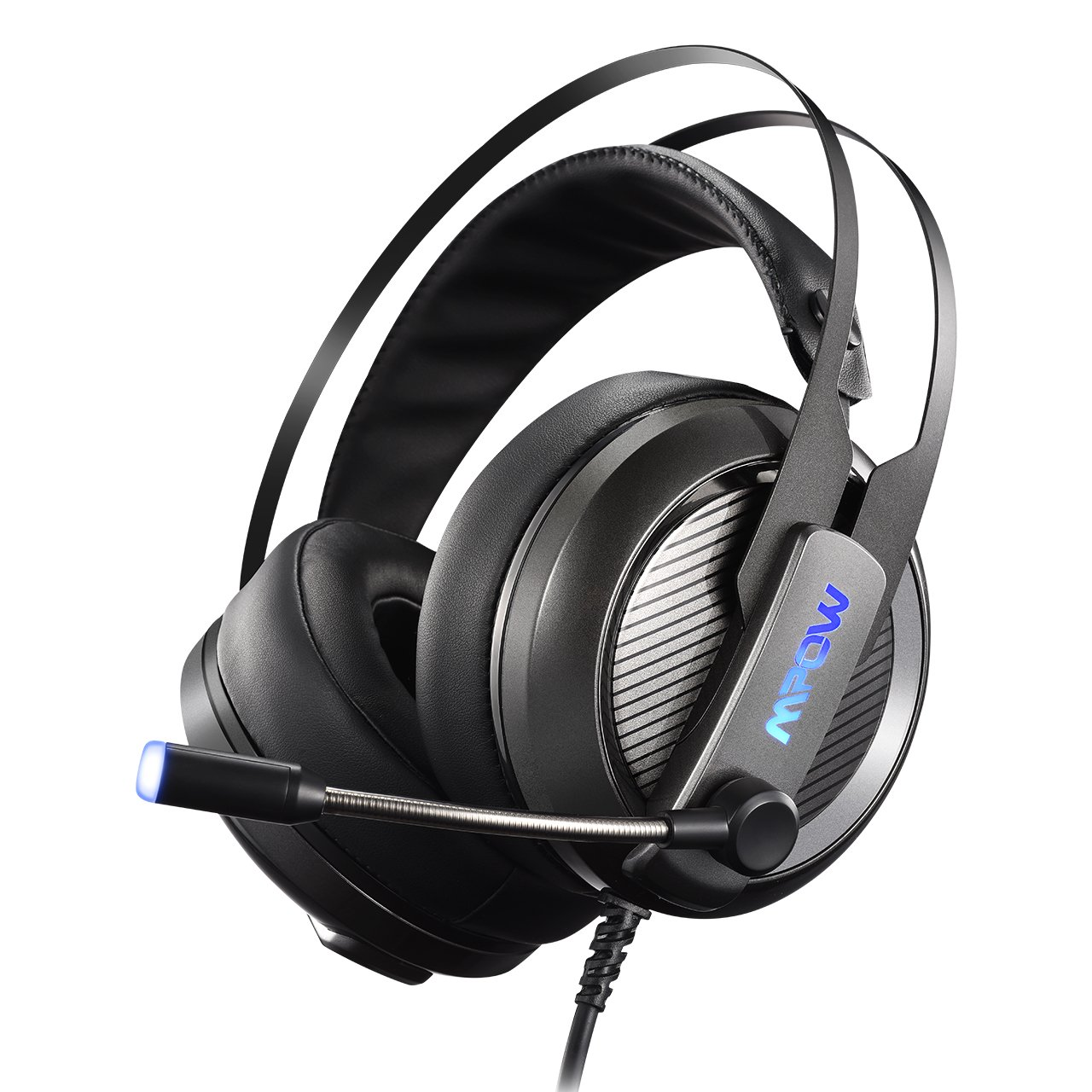 Mpow EG4 Gaming Headset for PC, Playstation 4, Virtual 7.1 Surround Sound Headset, Computer USB Headphone with Noise-Cancelling Microphone, LED Light Over-Ear Gaming Headphones