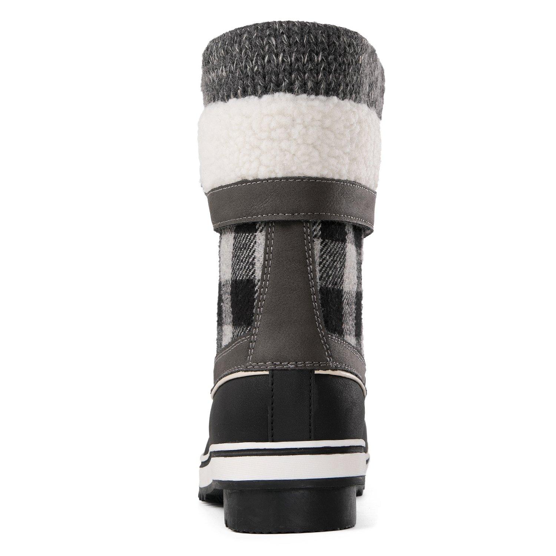Globalwin Women's Waterproof Winter Snow Boots (8.5 D(M) US Women's, Black/Grey1738) by Global Win (Image #5)