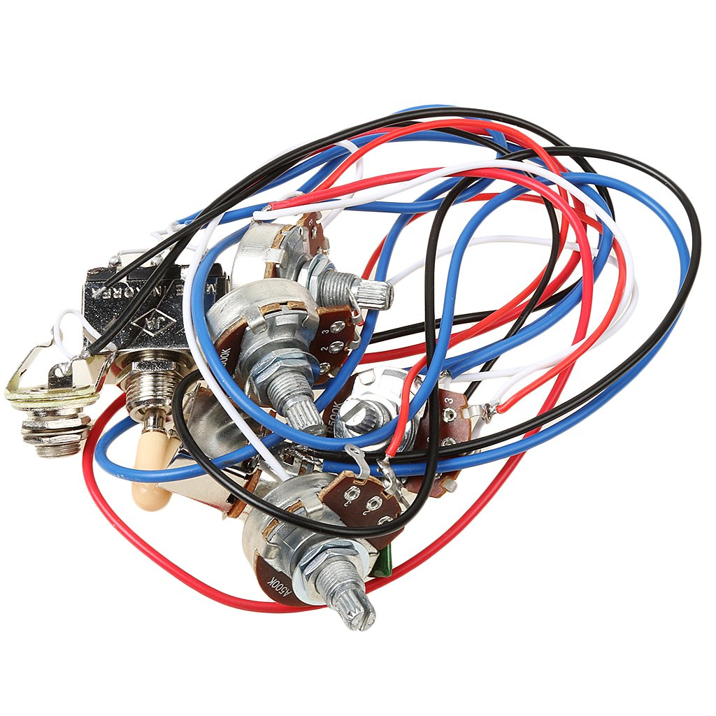 Dovewill Electric Guitar Parts Accessories Wiring Harness 3 Way Toggle Switch Pot Volume Tone Christmas Gift