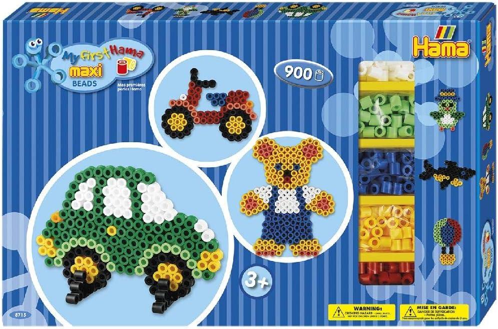 Hama Beads-8715 Caja de Regalo para Manualidades, Color Azul Gigante (8715)