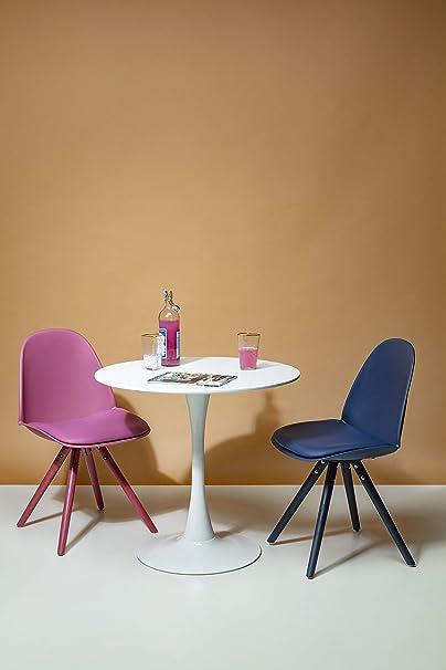 Kare Design Tisch Schickeria Ø80 cm, Esstisch weiß, runder Esstisch, runder Tisch, (HBT) 72x80x80cm