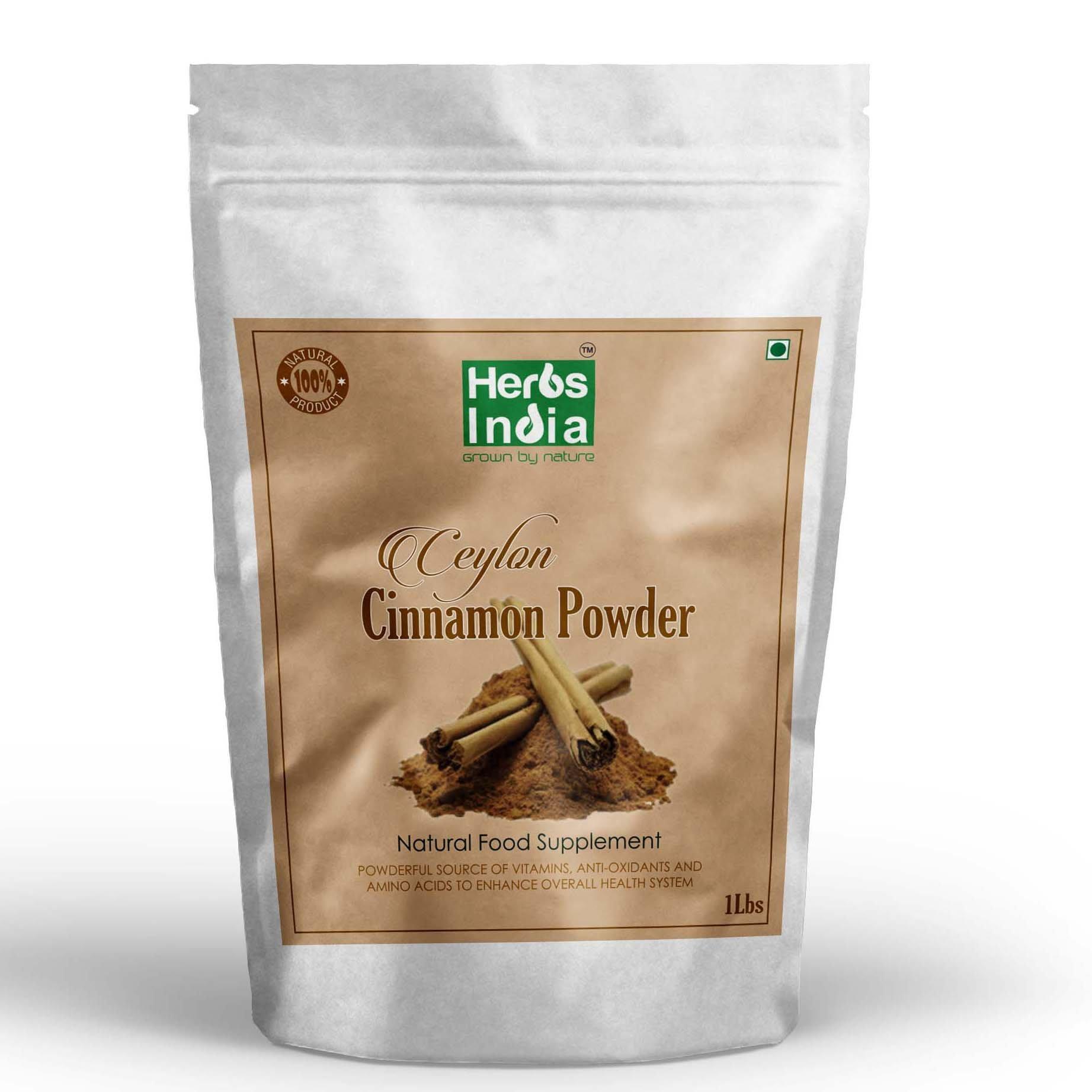 Herbs India - Cinnamon (Ceylon) Powder 16 Oz 1Lb. 100% Premium Ceylon Cinnamon 18