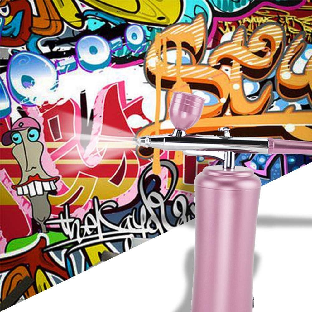 Aer/ógrafo Tatuaje De U/ñas Maquillaje De Arte Pintada con Aer/ógrafo Conjunto Mini Compresor De Aire Sin Cuerda del Arma De Aerosol HXZB Los Kits Port/átiles De Mano
