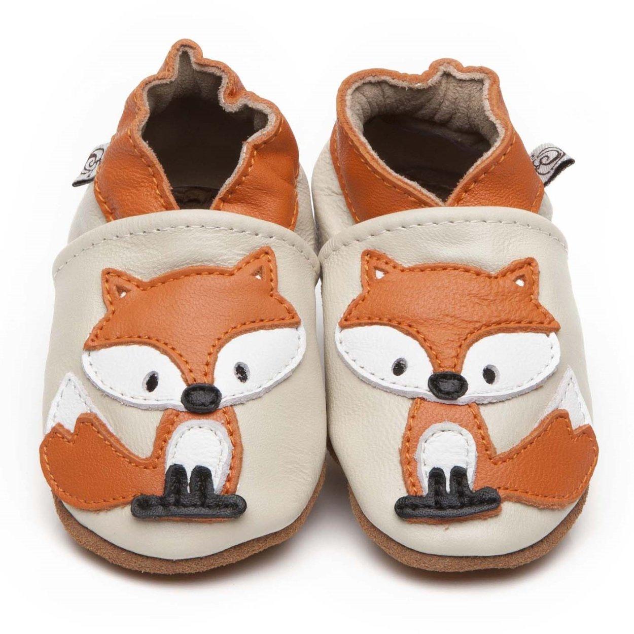 Weiche Leder Baby Schuhe Fuchses 6-12 monate Olea London