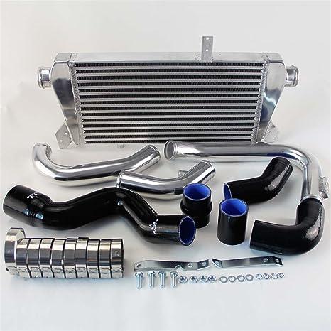 Tubo de manguera de Intercooler + negro silicona + Kit para Audi A4 1.8T Turbo