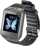 simvalley Mobile Kamera Armbanduhren: Handy-Uhr/Smartwatch mit Kamera, Bluetooth 4.0, iOS & Android (Android Smart Watches)