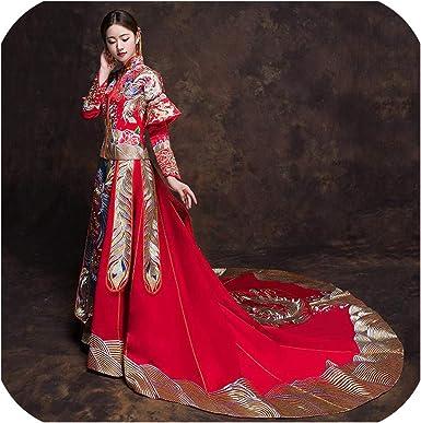 Amazon Com Classic Mandarin Collar Cheongsam Marriage Suit
