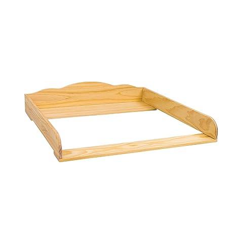 """PuckDaddy""""Nube 7"""" madera natural - Cambiador superior con cabecero curvado para todas las"""
