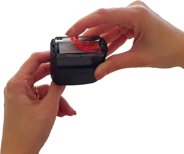 Timbro modico autoinchiostrante con gommina fino a 10 righe personalizzata inclusa 36x68