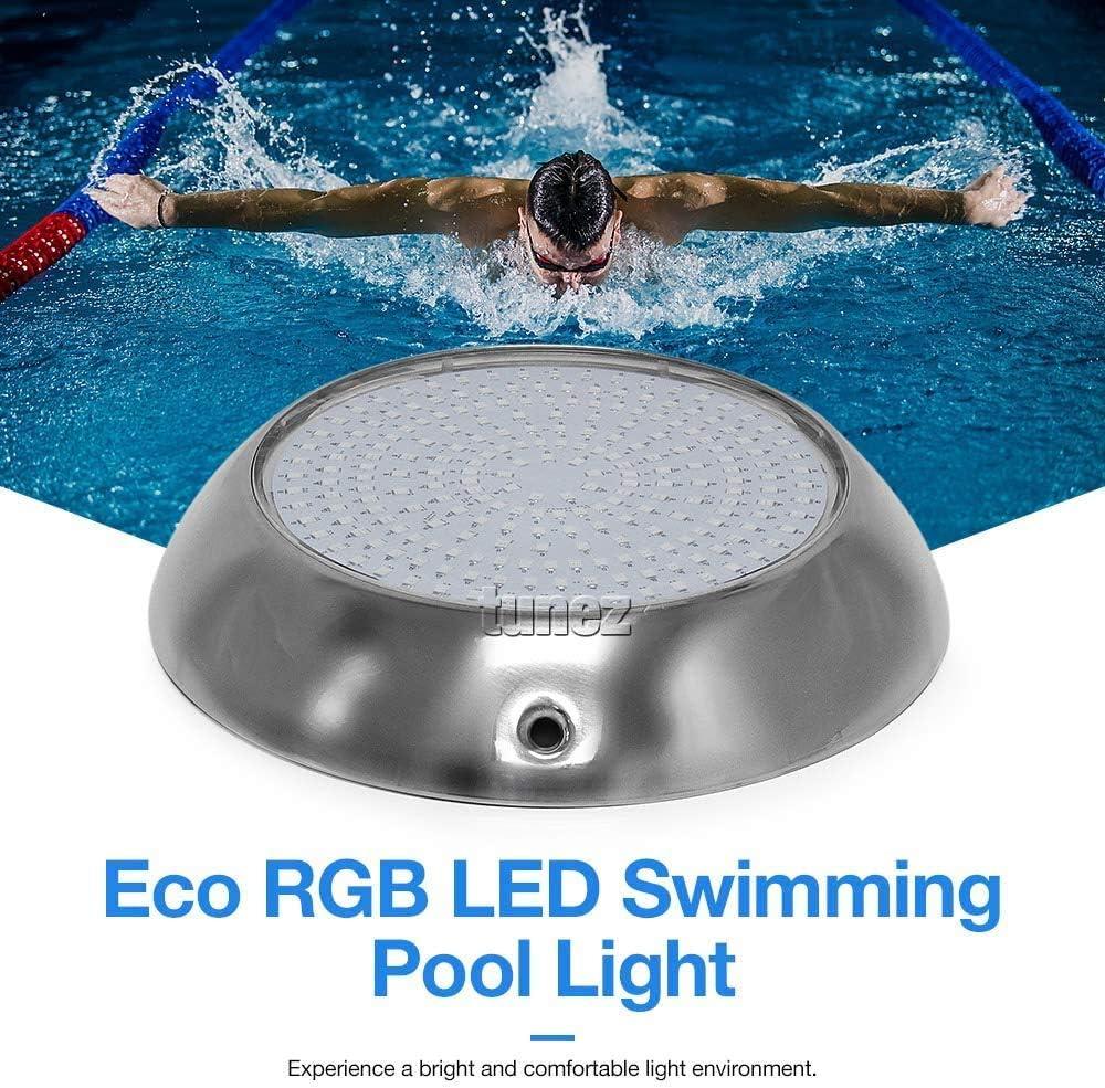Tunez/® Relleno de resina 18W Impermeable LED Pool Light Luz de Piscina 18 Teclas Control Remoto Luz Subacu/ática RGB Montado en la Pared 12V AC Alimentaci/ón Cable de 1,5 metros