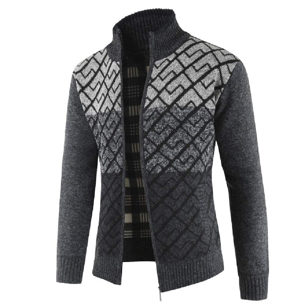 fd91684e8d35c Amazon.com  Mens Full Zip Up Sweaters Lightweight Casual Slim Fit Stand  Collar Cardigan with Pockets  Electronics