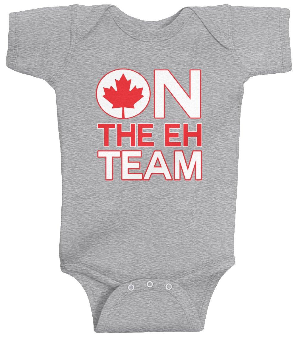 Threadrock Unisex Baby On The Eh Team (Canada) Bodysuit