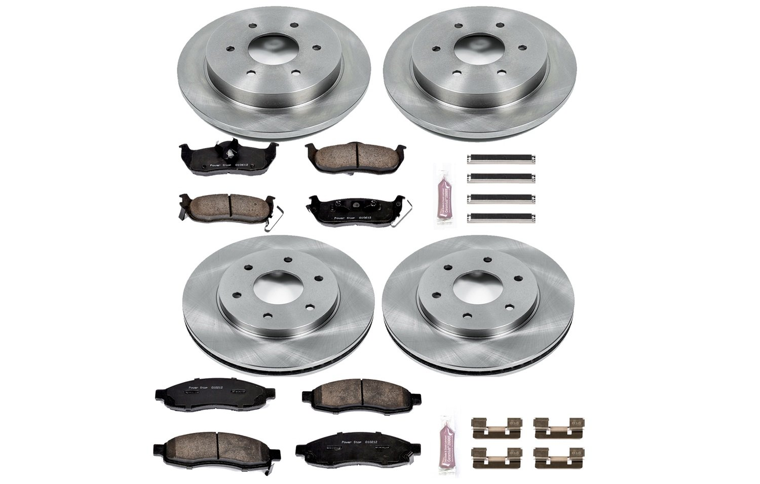 Autospecialty KOE2443 1-Click OE Replacement Brake Kit