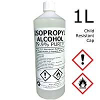 Hexeal IPA 99.9% | 1L | Child Resistant Cap | Lab Grade | Isopropyl Alcohol/Isopropanol Brand
