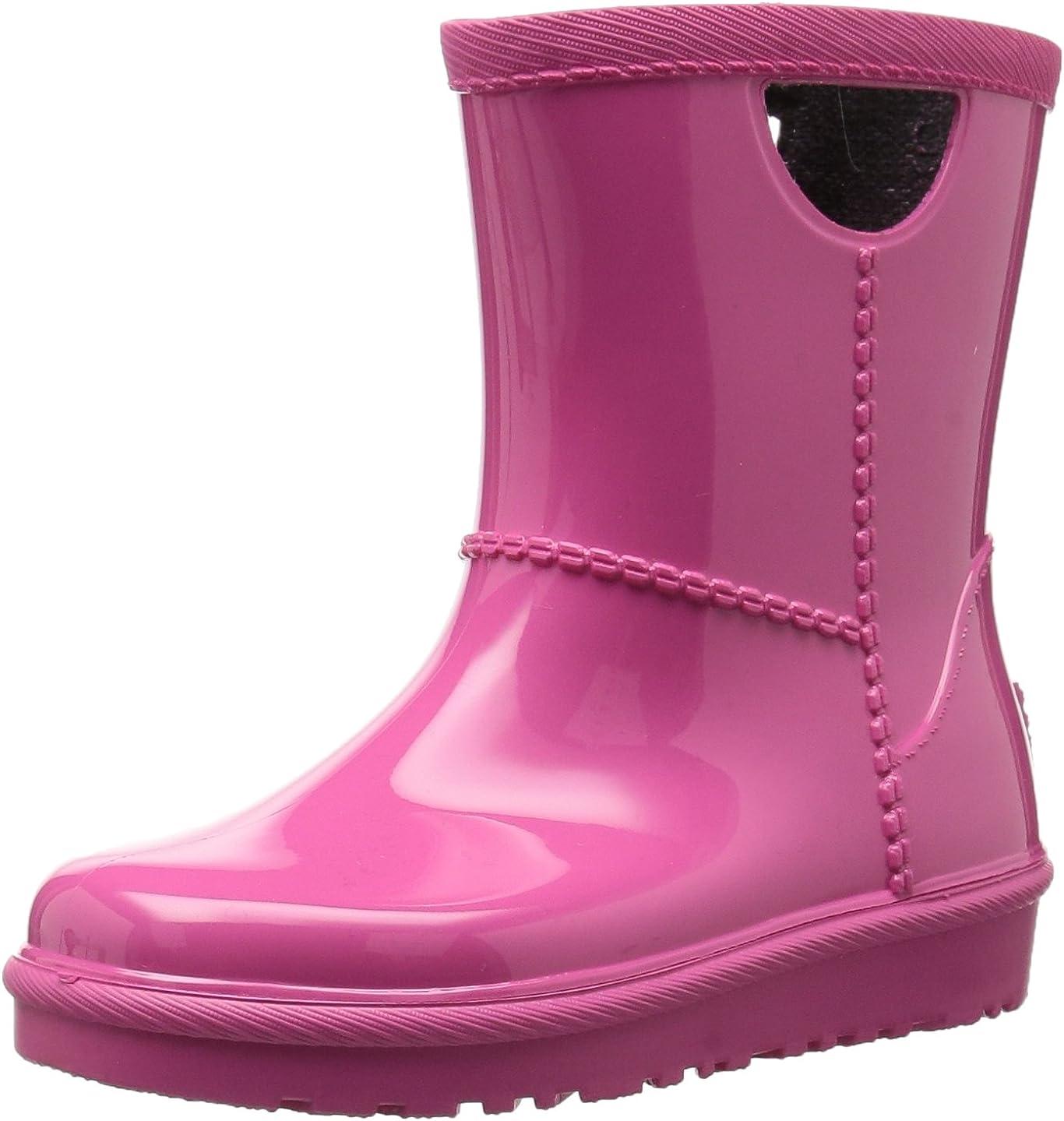 UGG Girls T Rahjee Rain Boot, Diva Pink