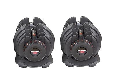 fitnessRAW - Mancuerna Ajustable de 40 kg, Mancuernas Ajustables de 40 kg Cada una,