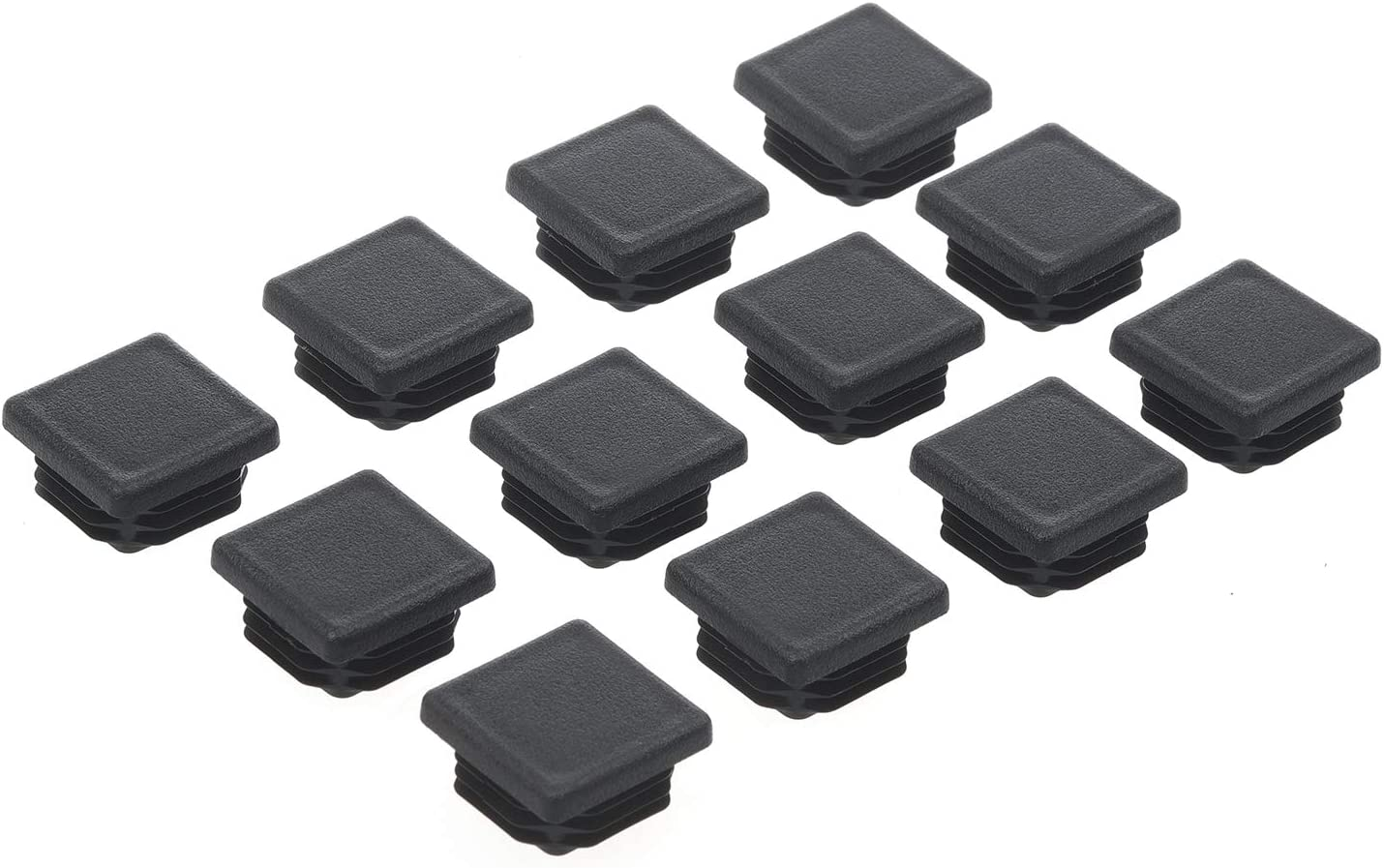 1-1/4 Inch Square Plastic Plug, Tubing Post End Cap 1-1/4 x 1-1/4 inch, Chair Glide Insert Finishing Plug, Great for Fencing Posts, Furniture End Caps, Fitness Equipment End Caps and More (12 Packs)