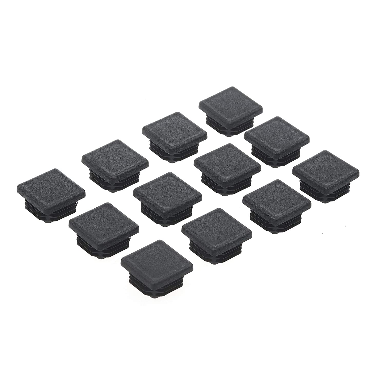 1-1/2 Inch Square Tubing End Cap, 12Packs Plastic Plug 1-1/2