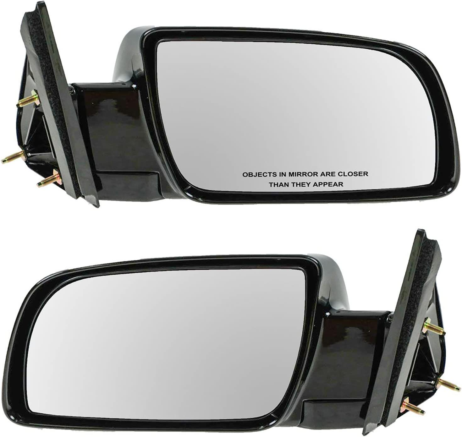 Manual Black Side Mirrors Left LH /& Right RH Pair Set of 2 for Pickup Truck