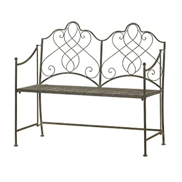 Antique Ornate Metal Folding Garden Bench