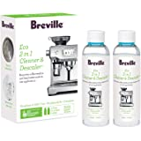 Breville Eco 2 In 1 Cleaner and Descaler, Duo Pack, Clear, BES014CLR