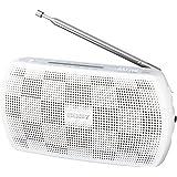 ソニー SONY ポータブルラジオ SRF-19 : ワイドFM対応 FM/AM ホワイト SRF-19 W