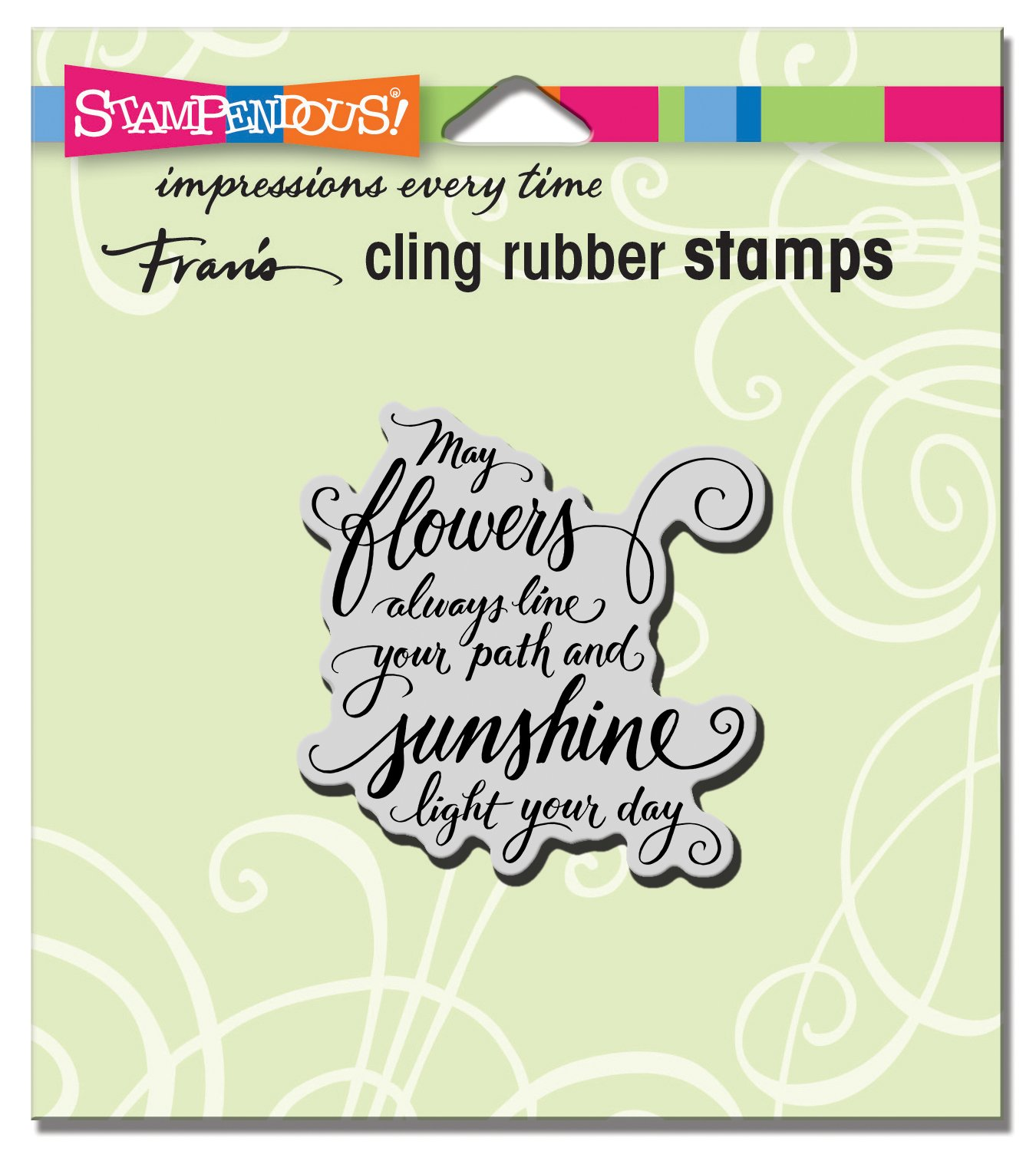 May Flowers Stampendous CRF244 Cling Stamp