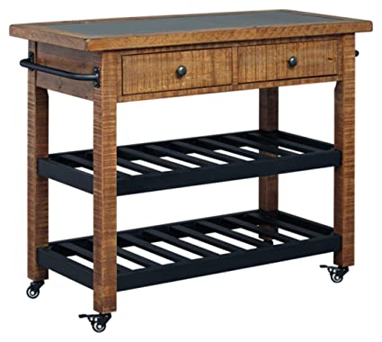 Rustic style furniture Living Room Image Unavailable Accent Furniture Pro Amazoncom Ashley Furniture Signature Design Marlijo Bar Cart